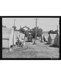 Tents for Cherry Pickers on Property of ... by Library of Congress