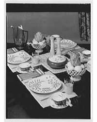 Jamian Advertising Co. Nassau, Table Set... by Schleisner, Gottscho