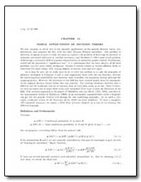 Simple Applications of Decision Theory by