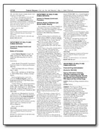 Federal Register; Vol. 68, No. 86; Monda... by Centers for Disease Control and Prevention