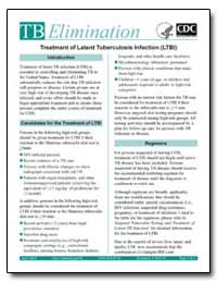 Treatment of Latent Tuberculosis Infecti... by Department of Health and Human Services