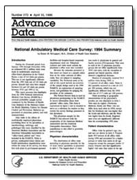 National Ambulatory Medical Care Survey ... by Schappert, Susan M.