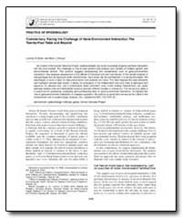 Practice of Epidemiology Commentary : Fa... by Khoury, Muin J., M. D., Ph. D.