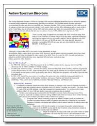 Autism Spectrum Disorders by Department of Health and Human Services