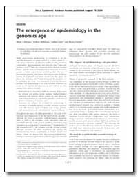 The Emergence of Epidemiology in the Gen... by Khoury, Muin J., M. D., Ph. D.