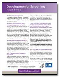 Developmental Screening Fact Sheet by Department of Health and Human Services