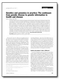 Genetics and Genomics in Practice : The ... by Khoury, Muin J., M. D., Ph. D.