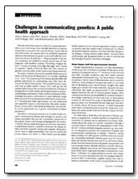 Challenges in Communicating Genetics : A... by Khoury, Muin J., M. D., Ph. D.
