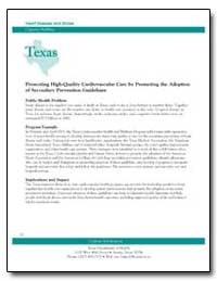 Texas : Promoting High-Quality Cardiovas... by Department of Health and Human Services