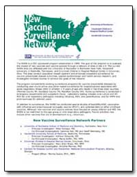 New Vaccine Surveillance Network by Centers for Disease Control and Prevention