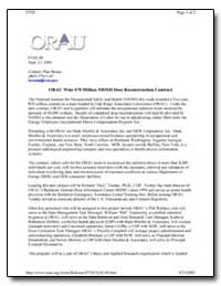 Orau Wins $70 Million Niosh Dose Reconst... by Department of Health and Human Services