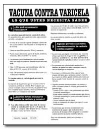 Vacuna Contra Varicela by Department of Health and Human Services