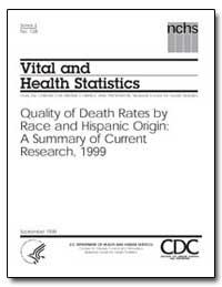 Vital and Health Statistics by Madans, Jennifer H., Ph. D.