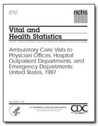 Vital and Health Statistics by Hunter, Edward L.