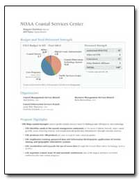 Noaa Coastal Services Center by Davidson, Margaret A.