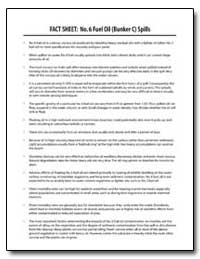Fact Sheet : No. 6 Fuel Oil (Bunker C) S... by