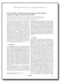 On the Variability of Dissolved Oxygen a... by Garcia, Hernan E.
