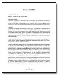 Oceans Act of 2000 by