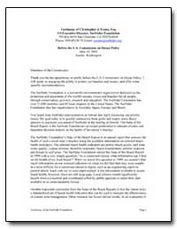 Before the U. S. Commission on Ocean Pol... by Evans, Christopher J.