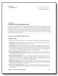Summary of Recommendations by