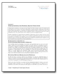 Strengthening the Federal Agency Structu... by