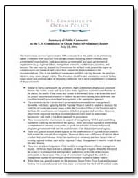 Summary of Public Comments on the U.S. C... by