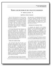 Timing and the Work of the Stratton Comm... by Lawrence, Samuel A.