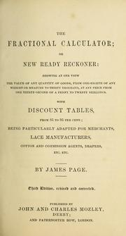 Fractional Calculator or New Ready Recko... by Page, James