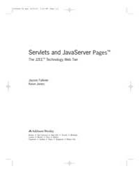 Servlets and Javaserver Pages: the J2Ee ... by Falkner, Jayson