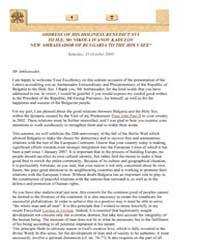 Address H.E. Mr Nikola Ivanov Kadulov, N... by Papal Encyclicals