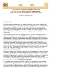 To Mr Eduardo Delgado Bermúdez, Ambassad... by Papal Encyclicals