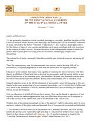 Address of John Paul II to the Xxxii Nat... by Papal Encyclicals