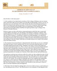 Address of John Paul II to the Bishops V... by Papal Encyclicals