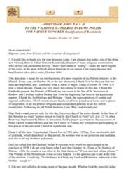 Address of John Paul II to the Faithful ... by Papal Encyclicals