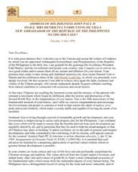 Address to the Ambassador of the Republi... by Papal Encyclicals