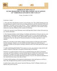 Address of John Paul II to the Promoters... by Papal Encyclicals