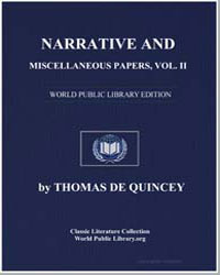 Narrative and Miscellaneous Papers, Volu... by De Quincey, Thomas