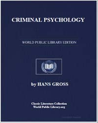 Criminal Psychology by Gross, Hans