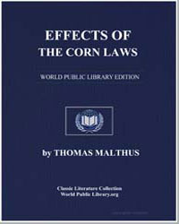 Effects of the Corn Laws by Malthus, Thomas