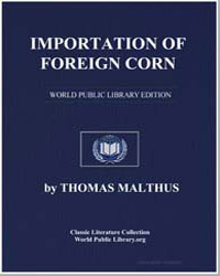 Importation of Foreign Corn by Malthus, Thomas