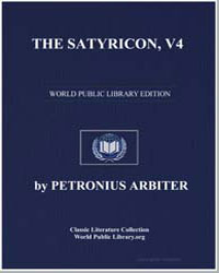 The Satyricon, Volume 4 (Escape by Sea) by Arbiter, Petronius