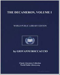 The Decameron, Volume I by Boccaccio, Giovanni