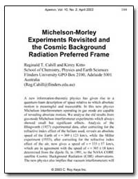 Michelson-Morley Experiments Revisited a... by Cahill, Reginald T.