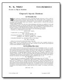 Chapter 6 : Aquatic Chemistry by White, W. M.