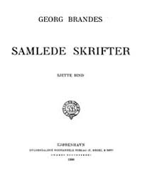 Samlede Skrifter, Part VI by Brandes, Georg