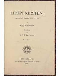 Liden Kirsten, Romantisk Opera I to Akte... by Andersen, H. C.
