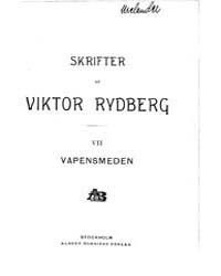 Vapensmeden Hägringar Från Reformationst... by Rydberg, Viktor