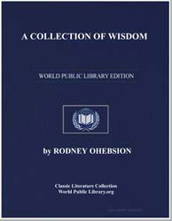 A Collection of Wisdom by Ohebsion, Rodney