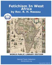 Fetichism in West Africa by Rev. Nassau, R. H.