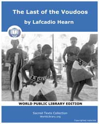 The Last of the Voudoos, Score Afr Lastv... Volume Vol. II by Hearn, Lafcadio